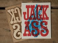 Jack Ass - Block Print