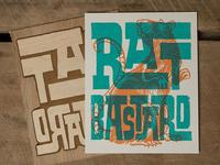 Rat Bastard - Block Print