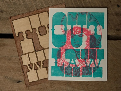 Outlaw - Block Print