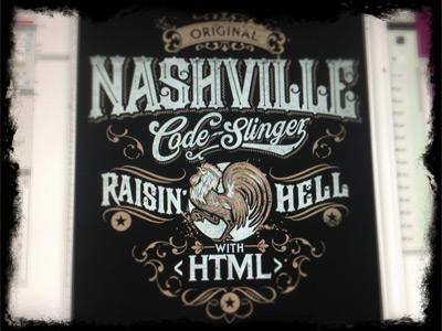 Nashville Code Slinger derrick castle derrick straw castle nashvillemafia design graphic design illustration art americana nashville drawing castle branding typography rooster type html code-slinger raisin hell