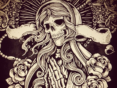 Crave: Feed Your Soul derrick castle derrick straw castle nashvillemafia design graphic design illustration art americana nashville drawing castle crave skull mother mary tattoo cross rosary roses
