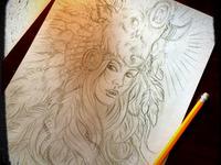 Buffalo Headdress - Sketch