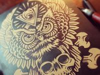 Owl Totem - Block