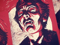 Hammer's Dracula  -Block Print