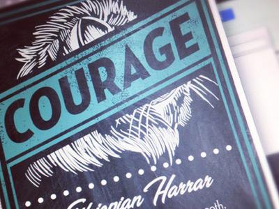 Courage - Ethiopian Harrar derrick castle derrick straw castle nashvillemafia design graphic design illustration art americana nashville drawing castle lion courage coffee label coffee values