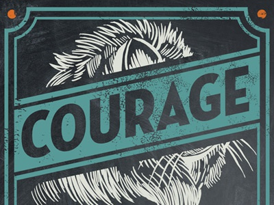 Courage - Coffee Label derrick castle derrick design illustration graphic design art hca nashville castle branding reto all hands coffee coffee label values lion courage