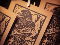"""Nevermore"" - Block Print"