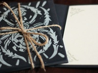 Black Spider - Block Printed Halloween Cards