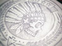Headdress Patch Sketch Dribble