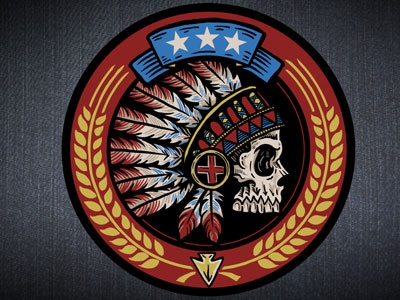 Headdress Embroidered Patch