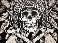 Tribal Headdress Screen Print