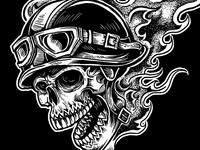 Skull Racer Illustration