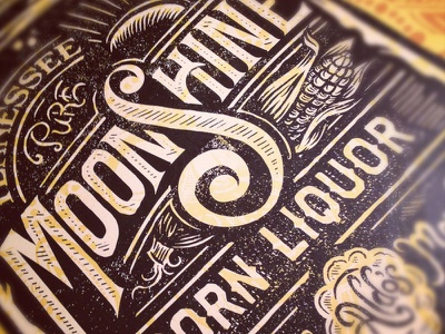 Pure Tennessee Moonshine Corn Liquor derrick castle derrick straw castle nashvillemafia design graphic design illustration art nashville drawing castle branding typography moonshine liquor tennessee