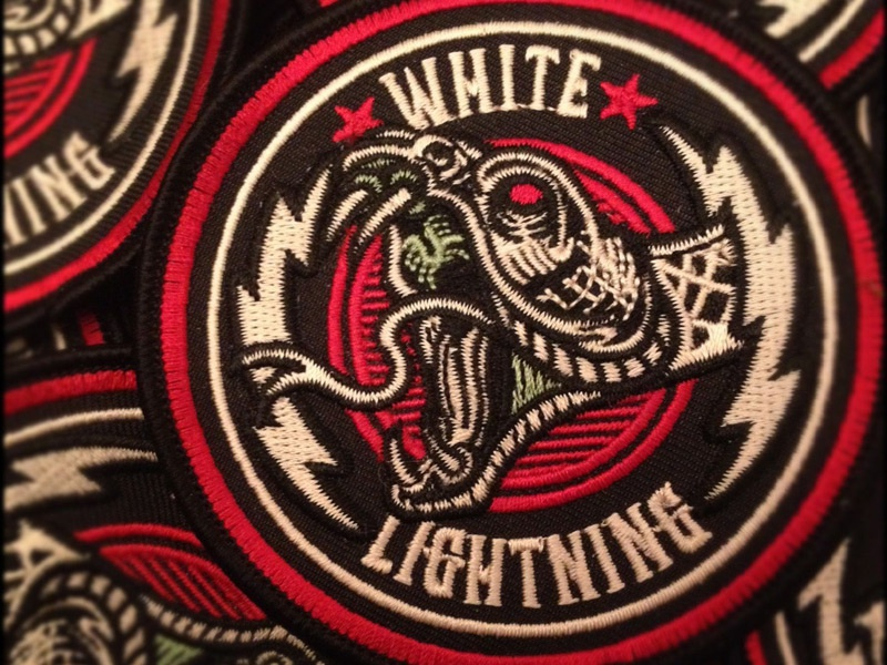 White Lightning Custom Embroidered Patch By Derrick Castle Dribbble