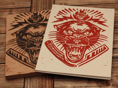 Electric Panther - Block Print