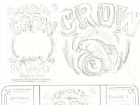Crooked crow label detials dribbble