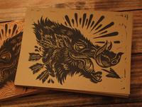 Bush Hog - Block Print