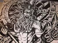 Poseidon Ink Dribbble