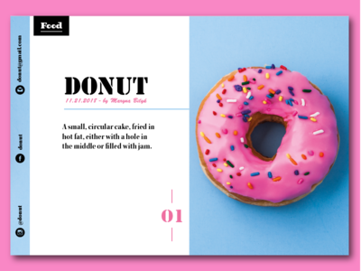 Donut a4 editoreal shapes epic visual illustrator card magazine graphic brand booklet print flyer design flyer poster business brochure design brochure branding design