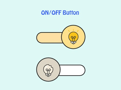 ON/OFF Switch switch button light lamp illustrion icon graphic art
