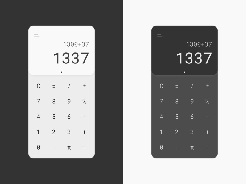 Daily UI 004 - Calculator minimal calculator app 1337 dailyui 004 ios android app dailyuichallenge dailyui004 calculator uiux ux ui dailyui