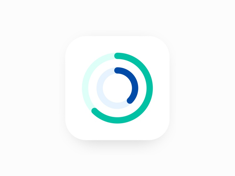 App Icon | Google Fit | Daily UI 005 google health tracking progress rounded circle app design vector logo design google fit fit app icon ios android app logo