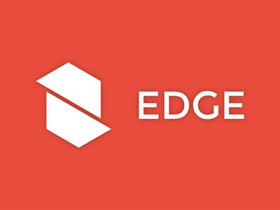 EDGE sharp hexagon design logo corporate edge