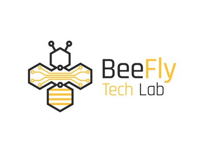 BeeFly Tech Lab design logo technology lab tech fly bee