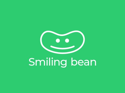 Smiling Bean identity brand design logo face smiling bean