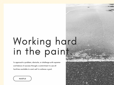Work the paint gritty nyc clean typography photography ui