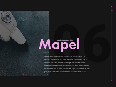 Mapel over pepperoni pizza  product nyc clean typography photography ui