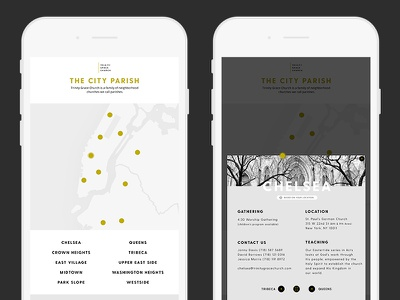 Trinity Grace Church mobile design ux photography ui