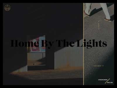 Home By The Lights melbourne interface webdesign ui landpage photography