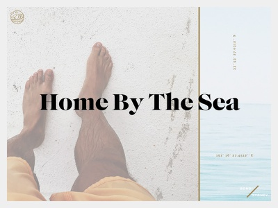 Home By The Sea webdesign ui photography sydney landpage interface