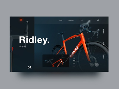 Ridley Bicycle Website application design bicycle shop icon typography ux branding website design website bicycle logo ui design