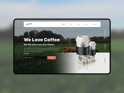 Coffee Cup Landing Page coffee web ui coffee cup landing page