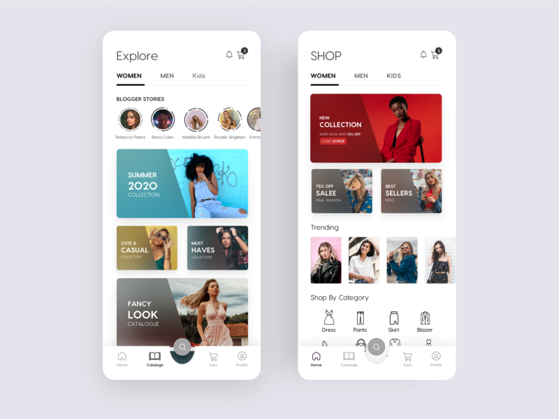 Fashion Shopping App clothing e-commerce app e-commerce fashion app clothes shopping shopping app clean mobile app ios app interface minimal product design design ux ui
