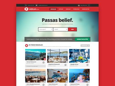 Mekan.Com Website Homepage
