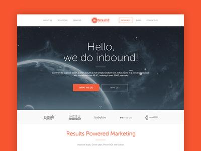 Flat Website Homepage