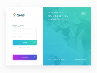 Pepsell Login Page sign in screen login consept sign in page user sign in user login user login page