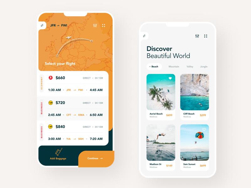 Trip Planning booking app ticket app travel app flight app booking summer hotel beach travel holiday trip