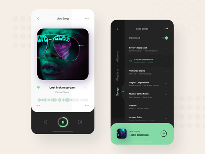 Music Player interface ux design ux ui design app design ios app now playing mobile app player music apple music spotify playlist music app music player