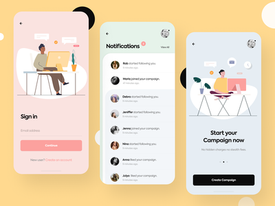 Simple Welcome app design design ux ui start page login page ux design ui design reset password tutorial notification notify sign up login