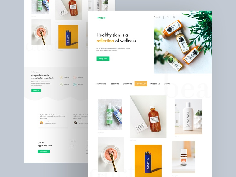Beauty Product - Landing page illustration design graphicdesign blockchain bitcoin typrography minimal design product website product design website web  design ui web uidesign online business ecommerce design landing page header homepage shopify design beauty products colorful design