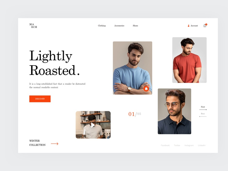 The Marchtee product page Concept shop page product page website design ui homepage shopify ecommerce modern typography header slider slide fashion clean