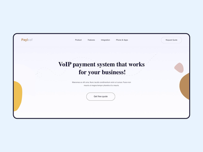 Payment website homepage