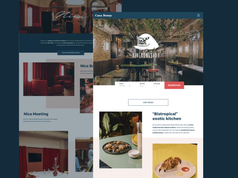 Casa Bonay Web Redesign web design graphic design ux ui ui design