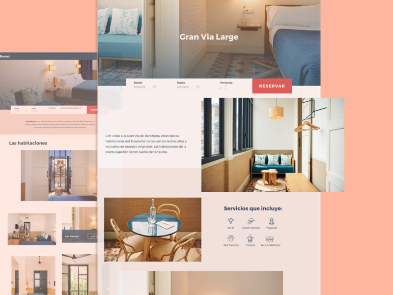 Casa Bonay Web Redesign graphic design web design ux ui design