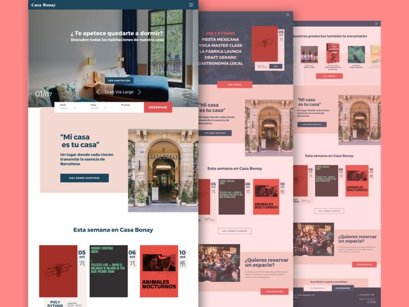 Casa Bonay Web Redesign web graphic design web design ux ui design