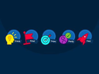 Badges Coporative Trivia Game illustrator trivia game game design badges ui design